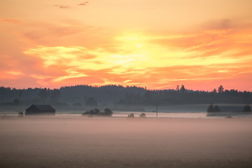Countryside sunrise, Finland