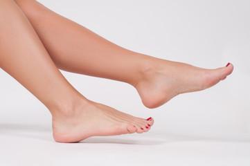 Beautiful female leg. Beauty and foot care
