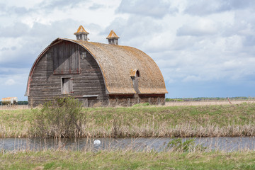 big rustic old barn