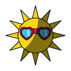 Sun funny cartoon