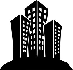 line art - design building for clip art or icon