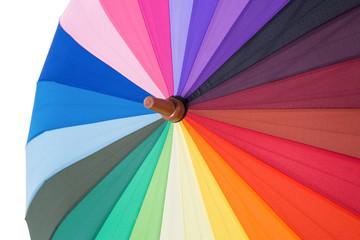 Colorful rainbow umbrella background