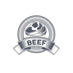 Butcher Shop vintage emblem beef meat products