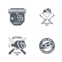 Butcher Shop vintage emblem beef meat products