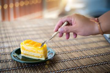 Orange Cake is delicious