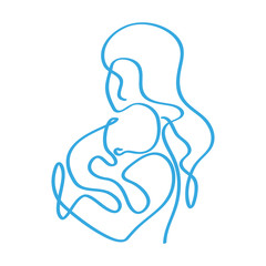 Fototapeta matka z dzieckiem na rękach wektor obraz