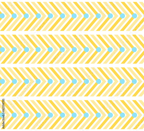 Yellow Zigzag Seamless Pattern With Lines And Circles Colorful Light Geometric Crankle Texture For Design