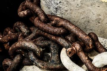 Rusty Steel Chain Detail