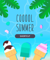 Summer template illustration