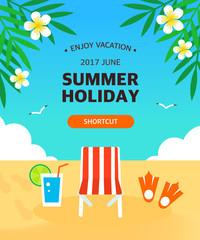 Summer template illustration