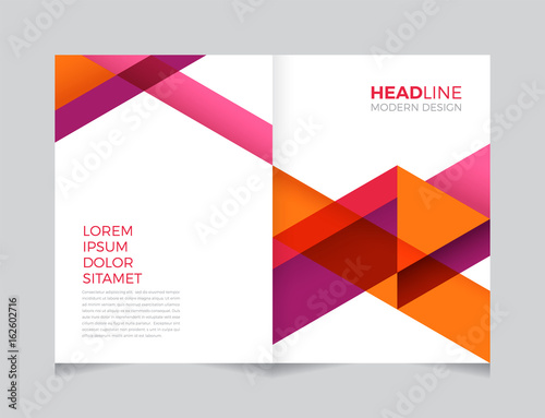 Modern Geometric Abstract Background Template For Brochure Leaflet