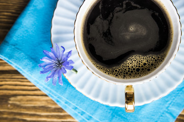 Useful hot drink instead of coffee - chicory