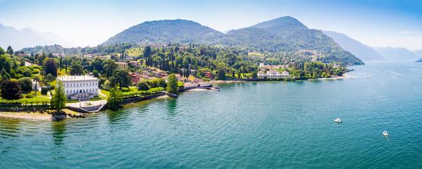 Bellagio - Loppia - Lago di Como (IT) - Villa Melzi e Villa Trivulzio con parco - Vista aerea