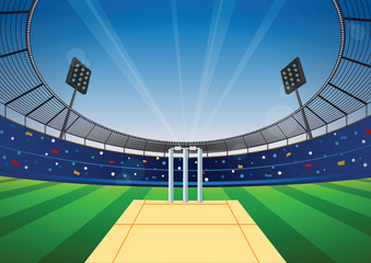 Cricket stadium background