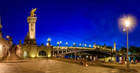 Pont Alexandre III (Alexander the third bridge) over river Seine in Paris, France