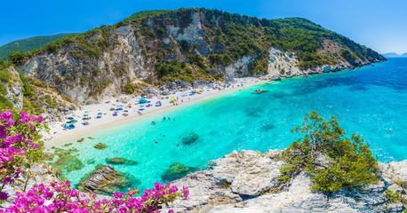 Wall Mural - Agiofili beach on the Ionian sea, Lefkada island, Greece.
