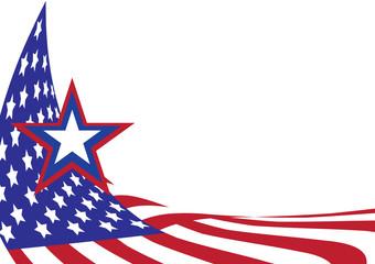 National flag of USA with vector illustration design - Wave USA flag with star