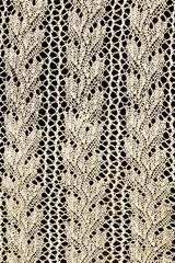 Vintage White Lace on Black Background
