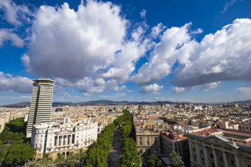 View of Las Ramblas in Barcelona