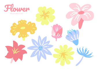 Flower illustration set