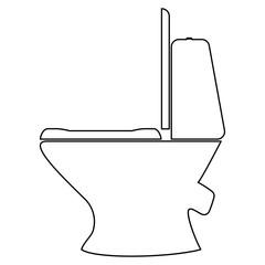Toilet bowl   the black color icon .