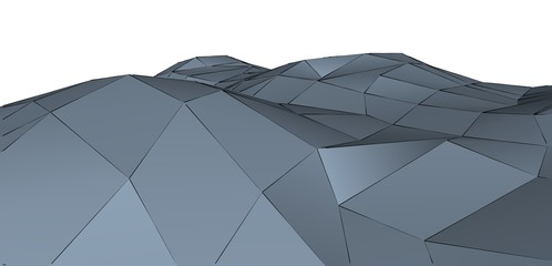 Abstract grey metallic geometric triangular 3d low polygonal background. Business brochure design texture.