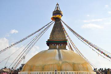 stupa and buddhish symbol in nepal