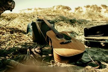 Guitar setup in Nature
