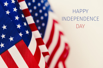 text happy independence day and american flags