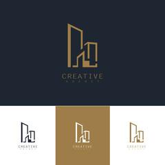 building letter H logo