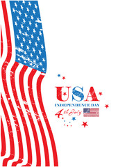 Independence Day of the United States of America ( usa ) . vector illustration