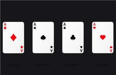 casino cards set ace