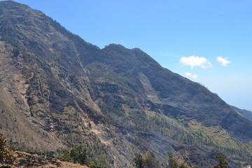 Rinjani vulcano landscape