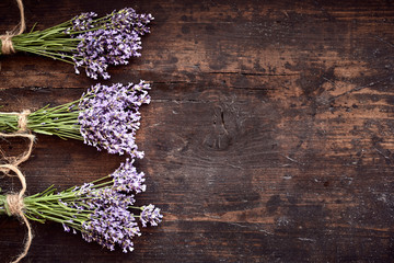 Bunches of healthy fresh aromatic lavender