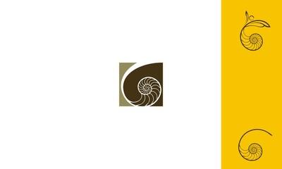 sea Snails, shellfish, emblem symbol icon vector logo