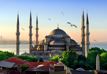 Blue Mosque at sunrise
