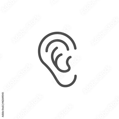u0026quot ear line icon u0026quot  imagens e vetores de stock royalty free no fotolia com
