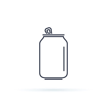 Soda can icon isolated on background. Modern flat pictogram, business, marketing, internet concept.