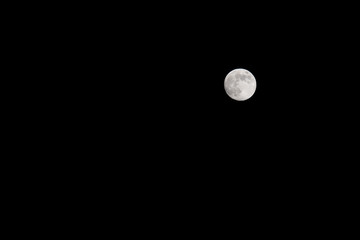 Full moon on a black background