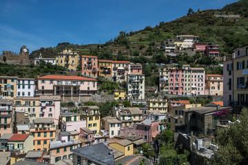 Village de Riomaggiore , en Italie , Cinque Terre