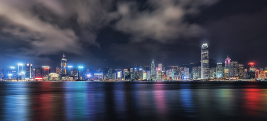Hong Kong cityscape viewed from Victoria harbor