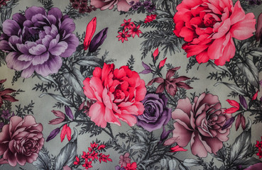 Colourful Floral Texture Pattern.