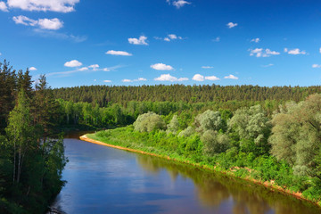 Baltic river valley