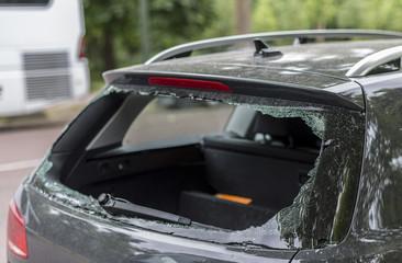 Broken rear window