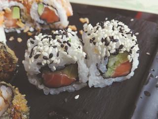 sushi rolls, Japanese food