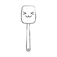 kitchen spatula tool kawaii character vector illustration design