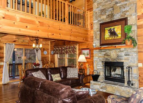 Interior of Cozy Cabin