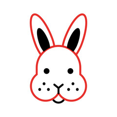 rabbit head isolated icon vector illustration design