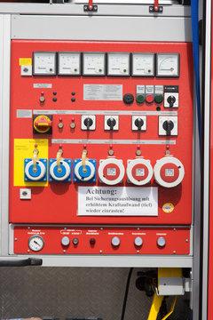 Notstromaggregat / Notstromaggregat von einem Feuerwehrfahrzeug