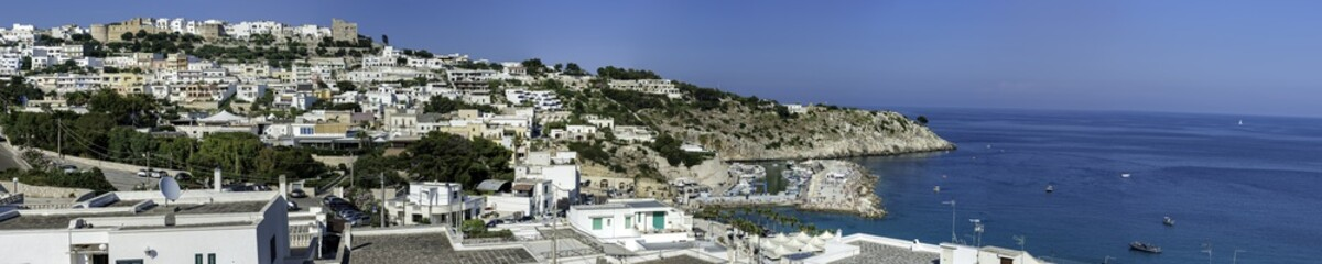 Panoramic view of Castro, a village near adriatic sea in Salento. Apulia - Italy